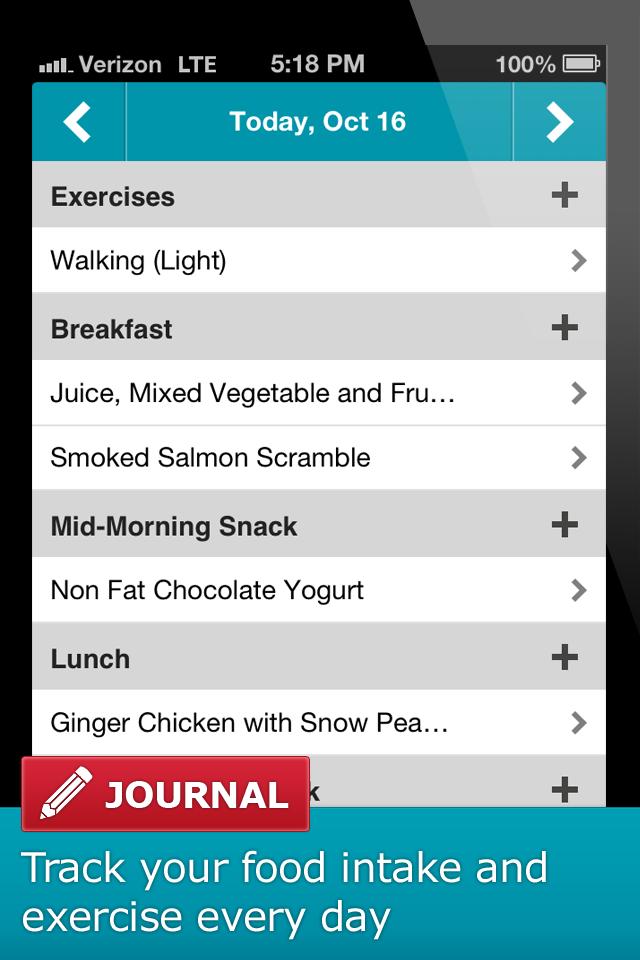 South Beach Diet (Iphone) - Screenshots